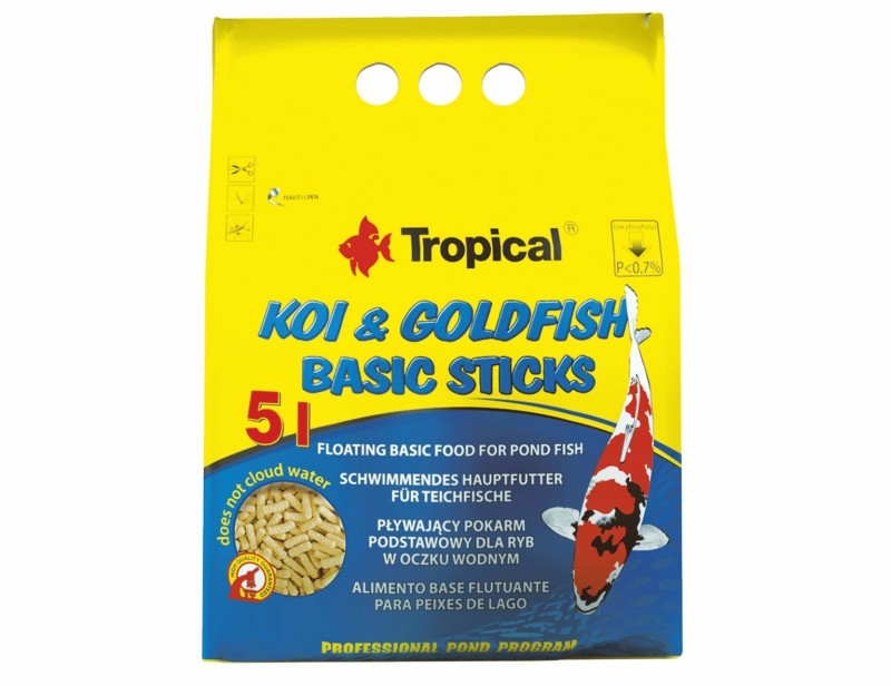 Tropical Koi & Goldfish Basic Sticks 5L
