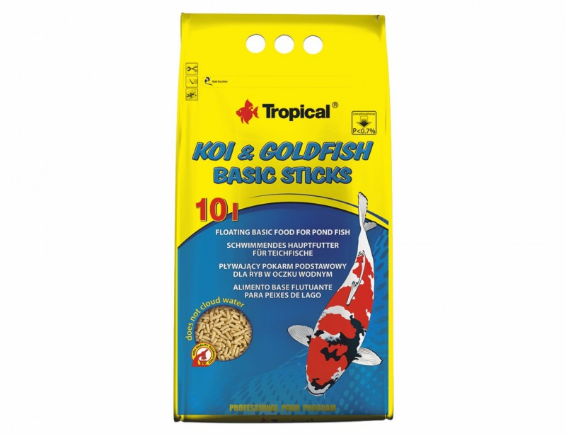 Tropical Koi & Goldfish Basic Sticks 10L