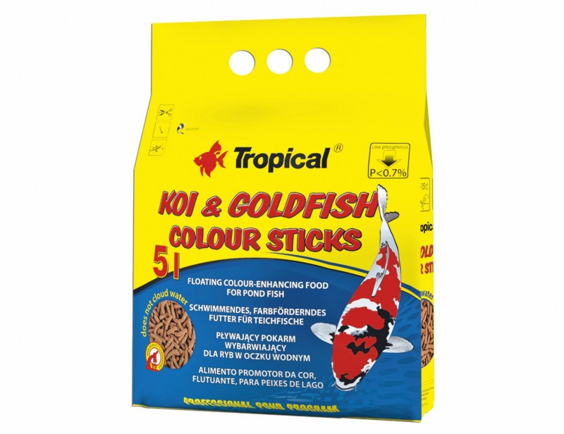 Tropical Koi & Goldfish Colour Sticks 5L