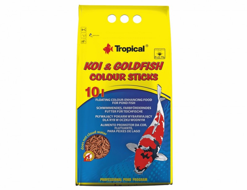 Tropical Koi & Goldfish Colour Sticks 10L