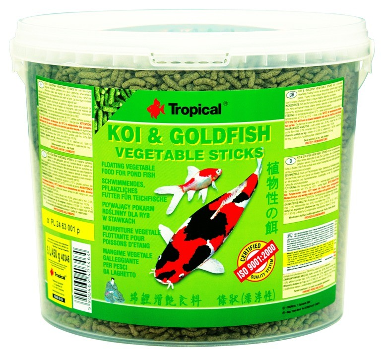 Tropical Koi & Goldfish Vegetable Sticks 5L / 450g