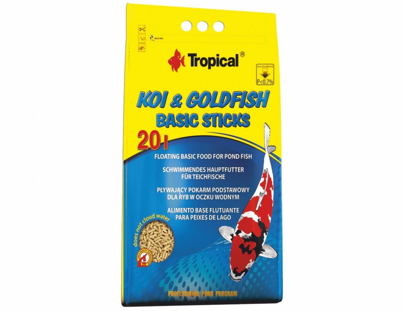 Tropical Koi & Goldfish Basic Sticks 20L